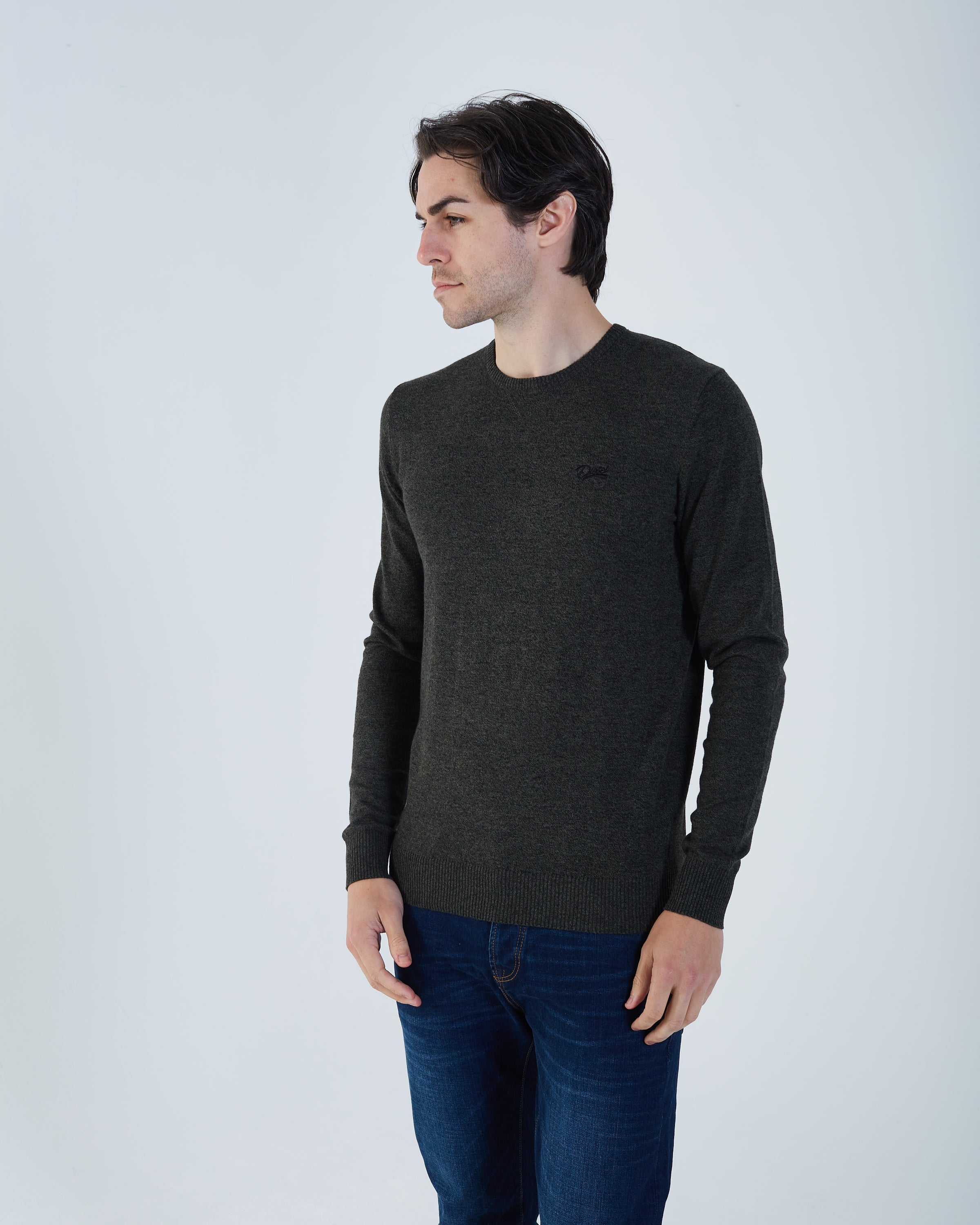 Dale Round Neck Moss Green Mel