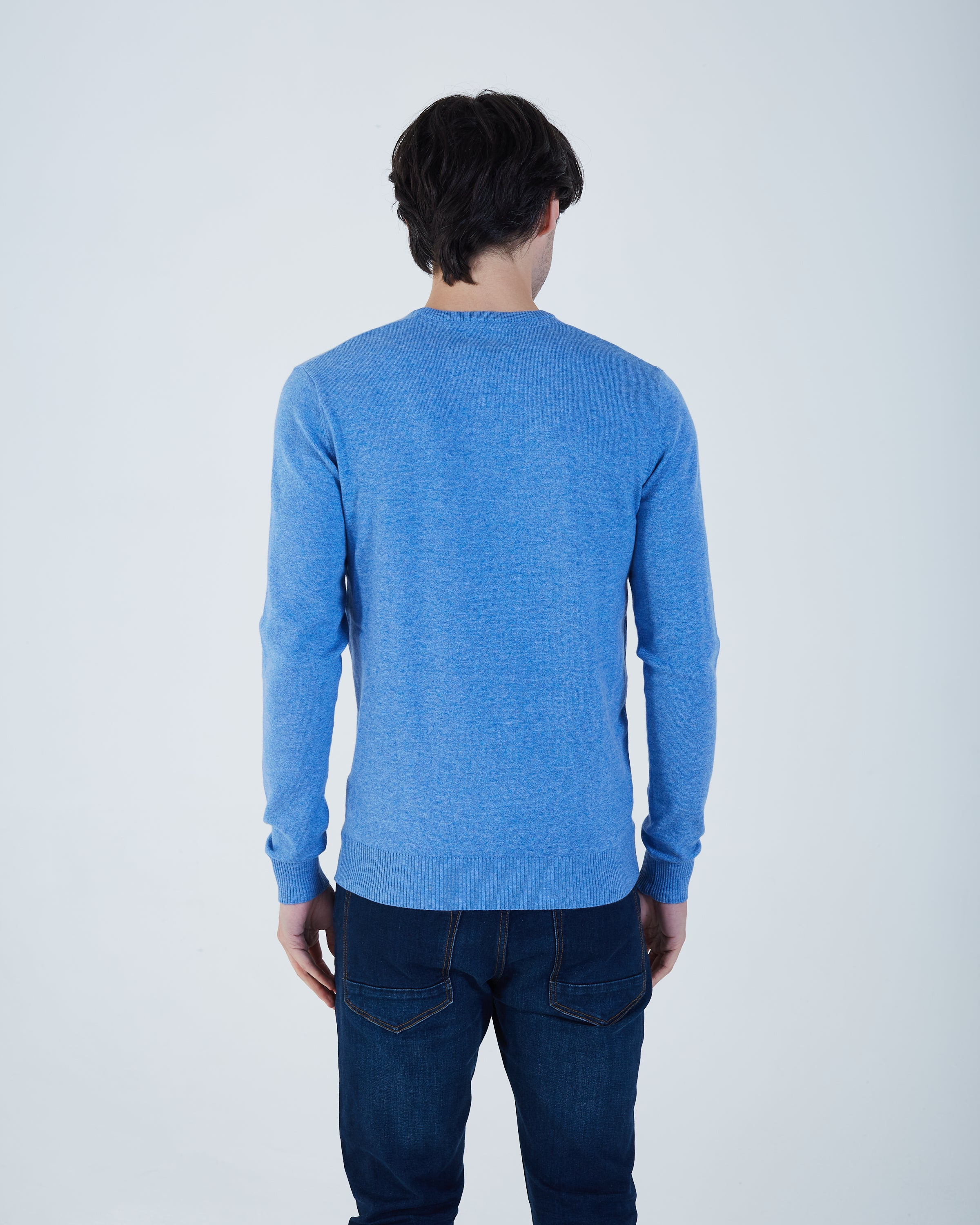 Dale Round Neck Nautical Blue Mel