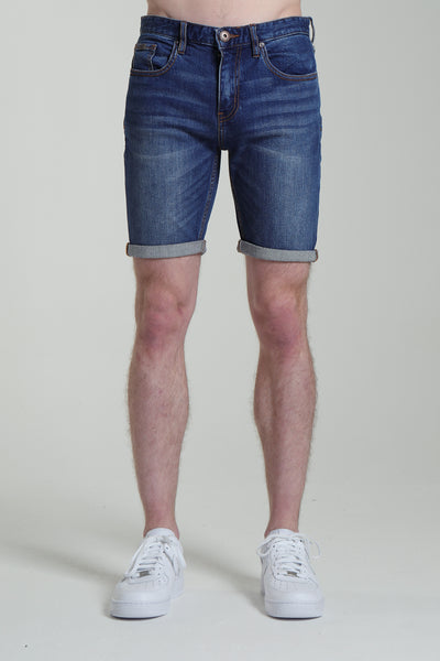 Duncan Denim Shorts  Medium Blue