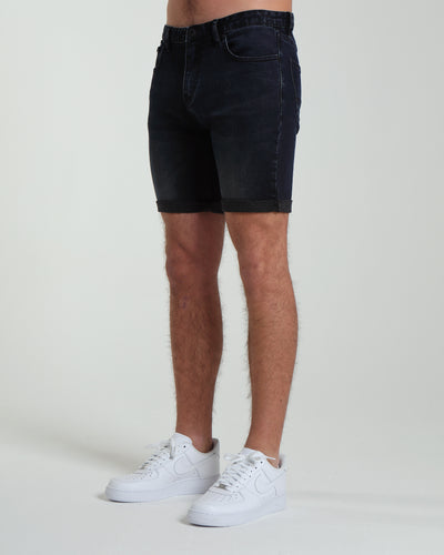 Duncan Denim Shorts Black