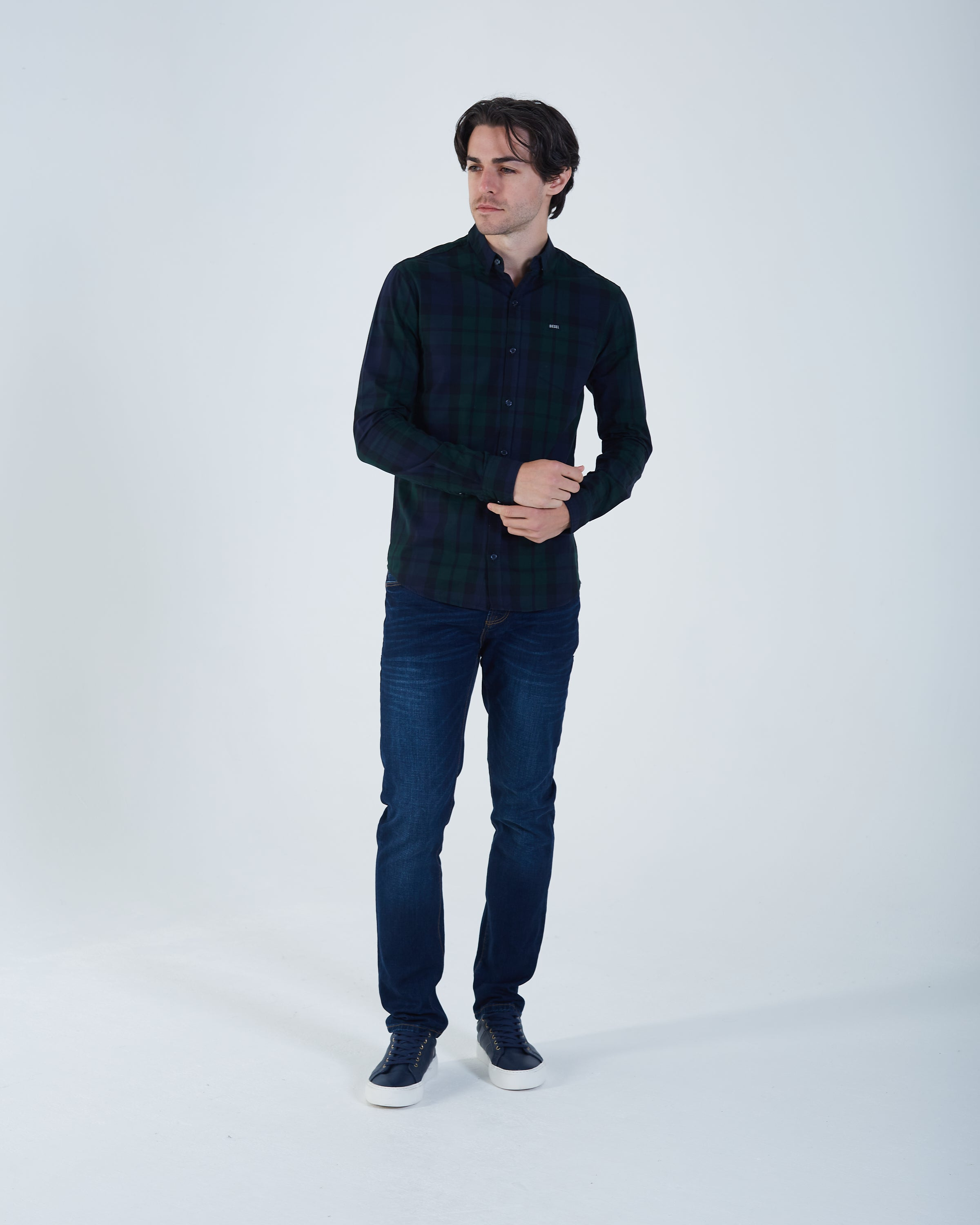 Hendrix Check Shirt Nordic Green