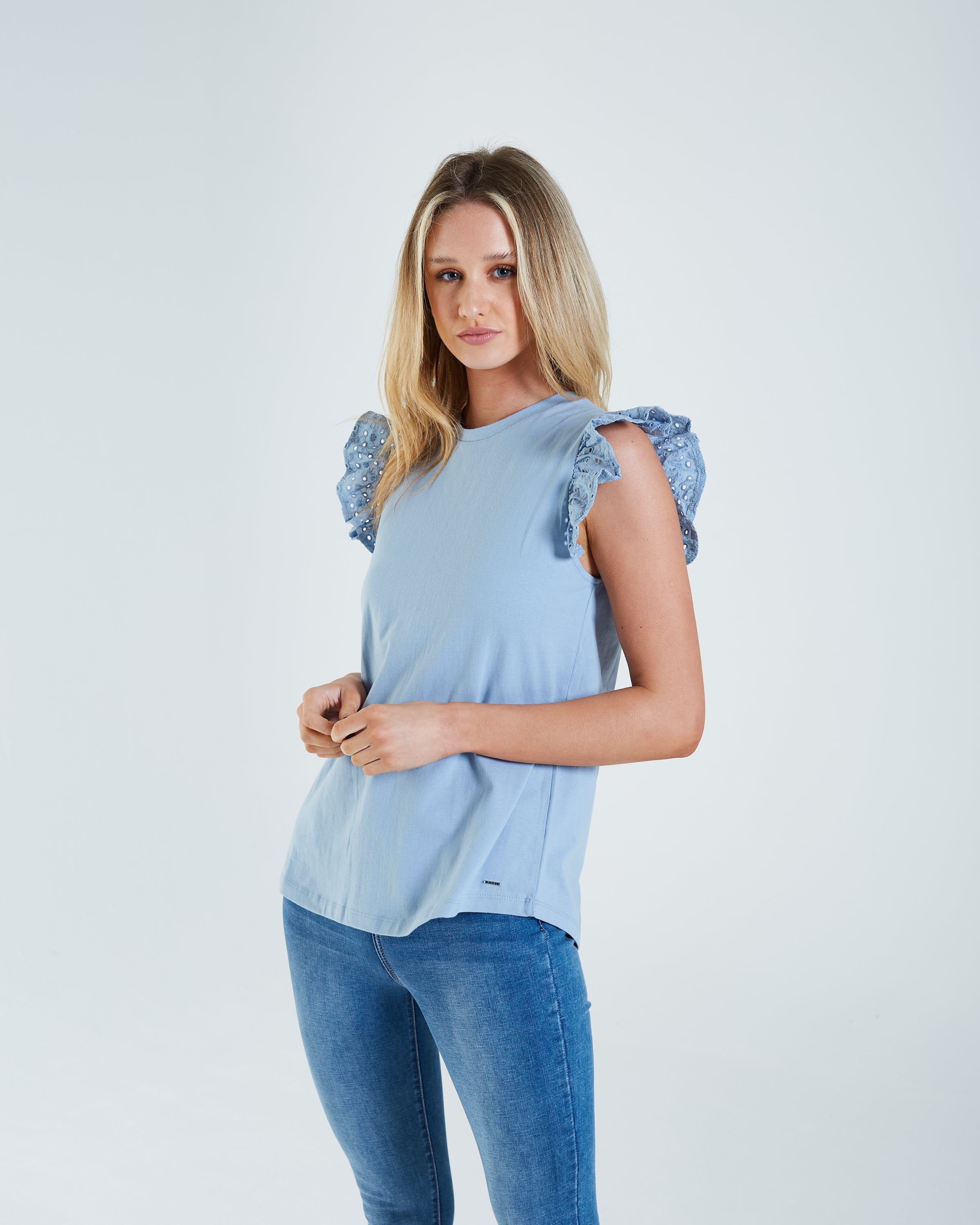 Finlay T-Shirt Dusty Blue