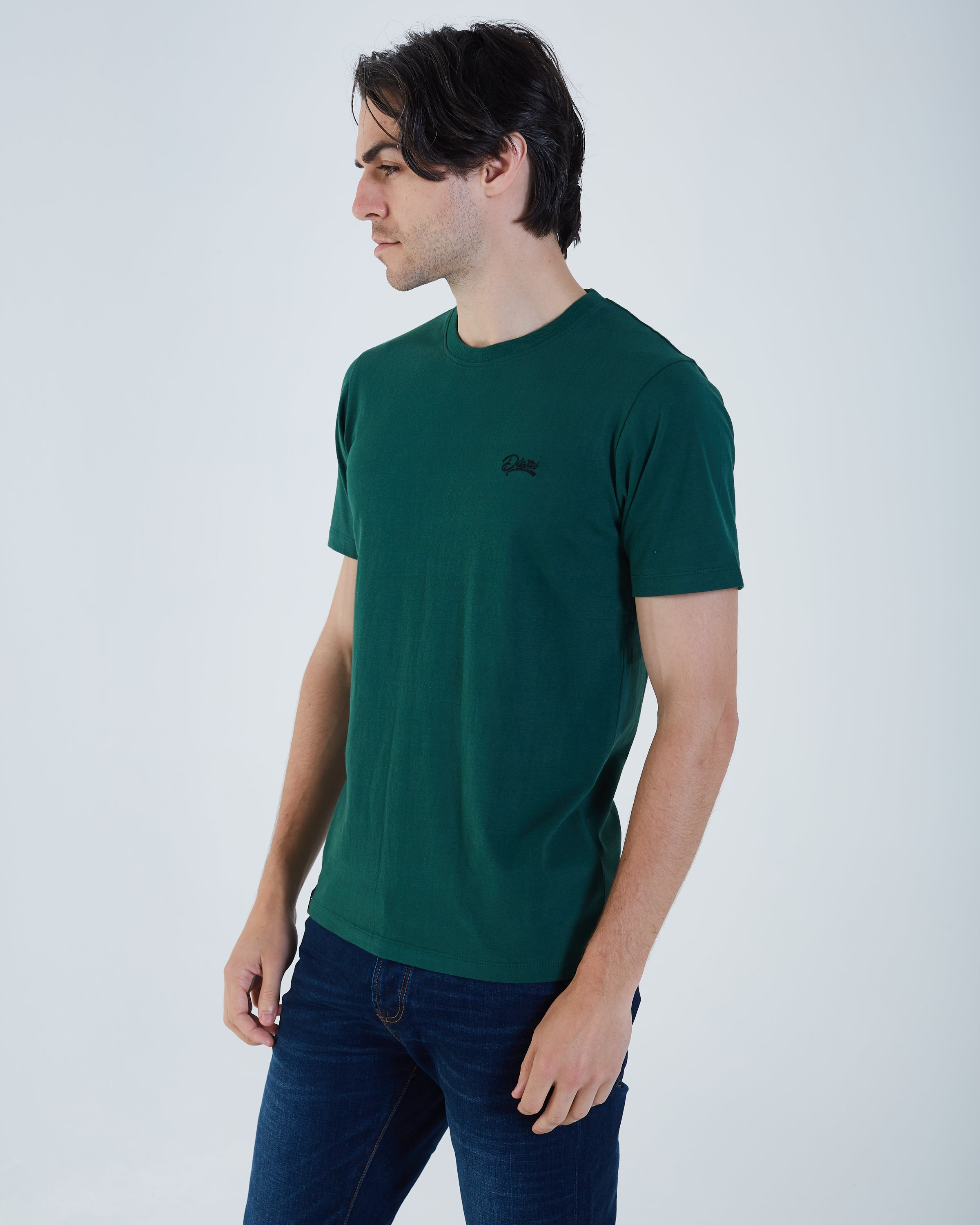 Basic O Neck Nordic Green