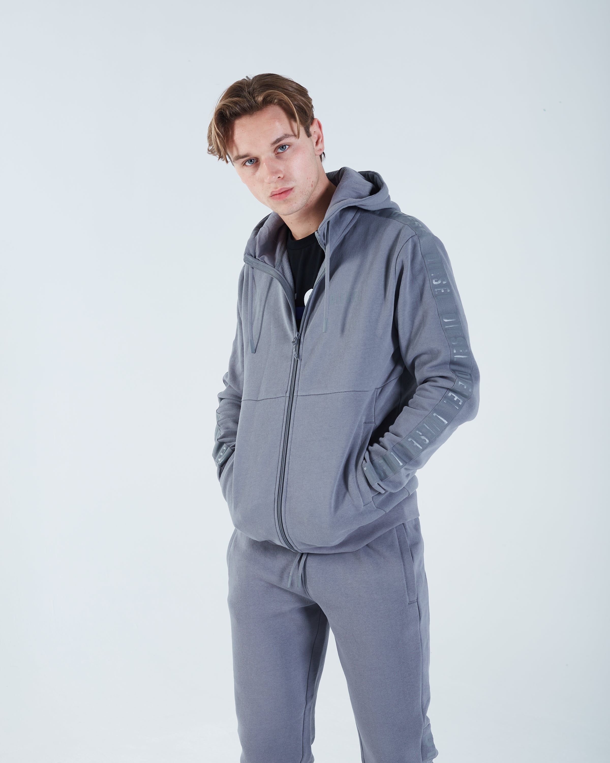 Domenico Zipper Hurricane Grey