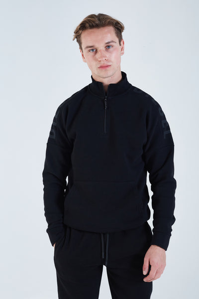 Phineas Half Zip Black