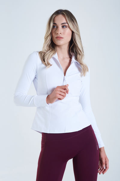 Venus Half Zip Optic White