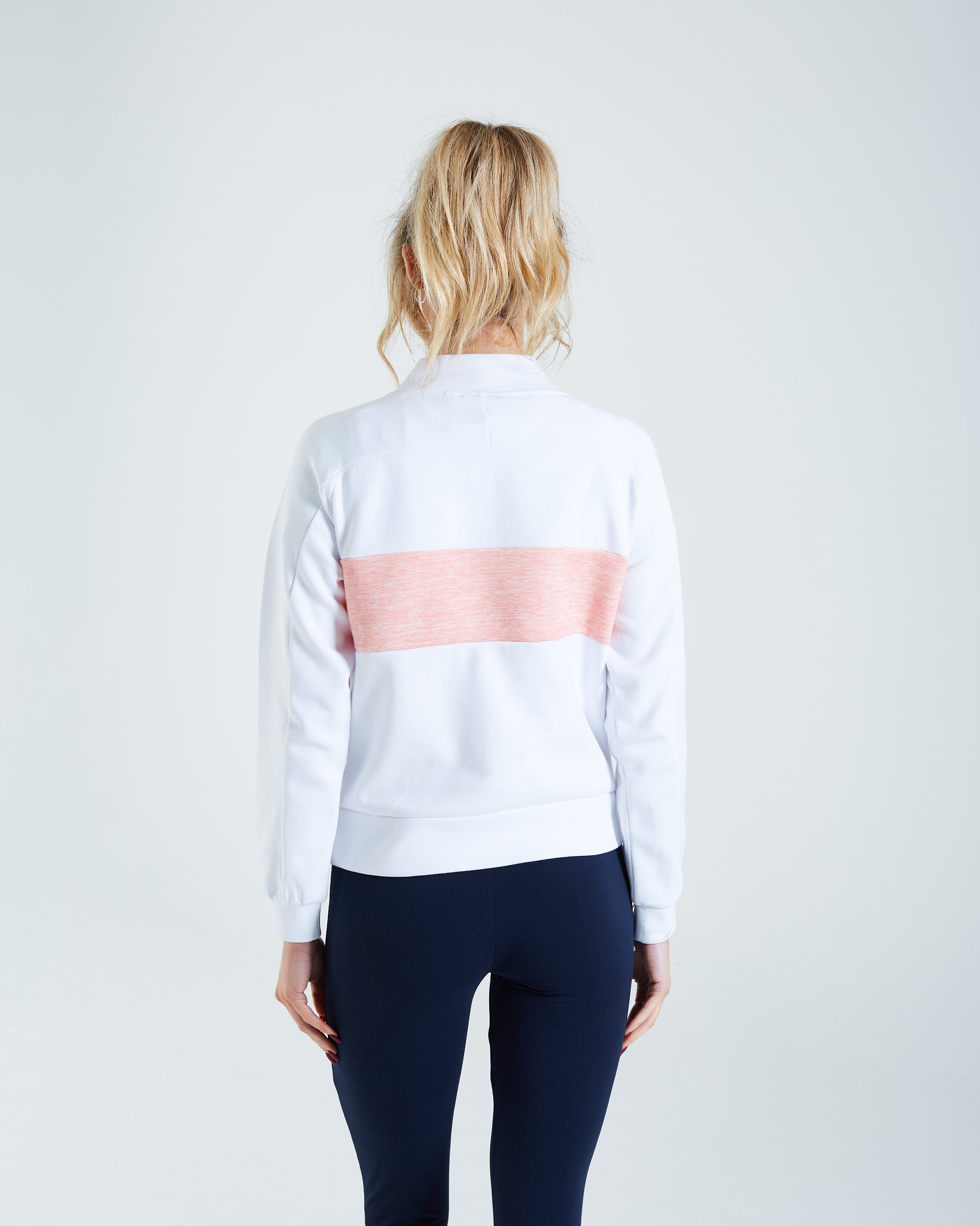 Tiffany Half Zip Optic White