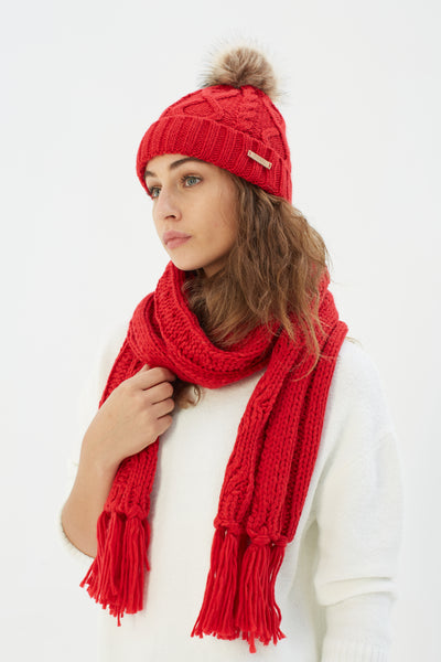 Evie Scarf Red