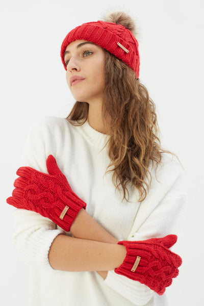 Evie Gloves Red