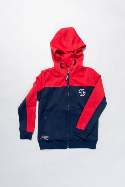 josh zip red / navy