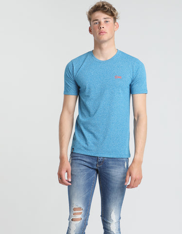 Basic Matt O Neck Tee MYKONOS BLUE