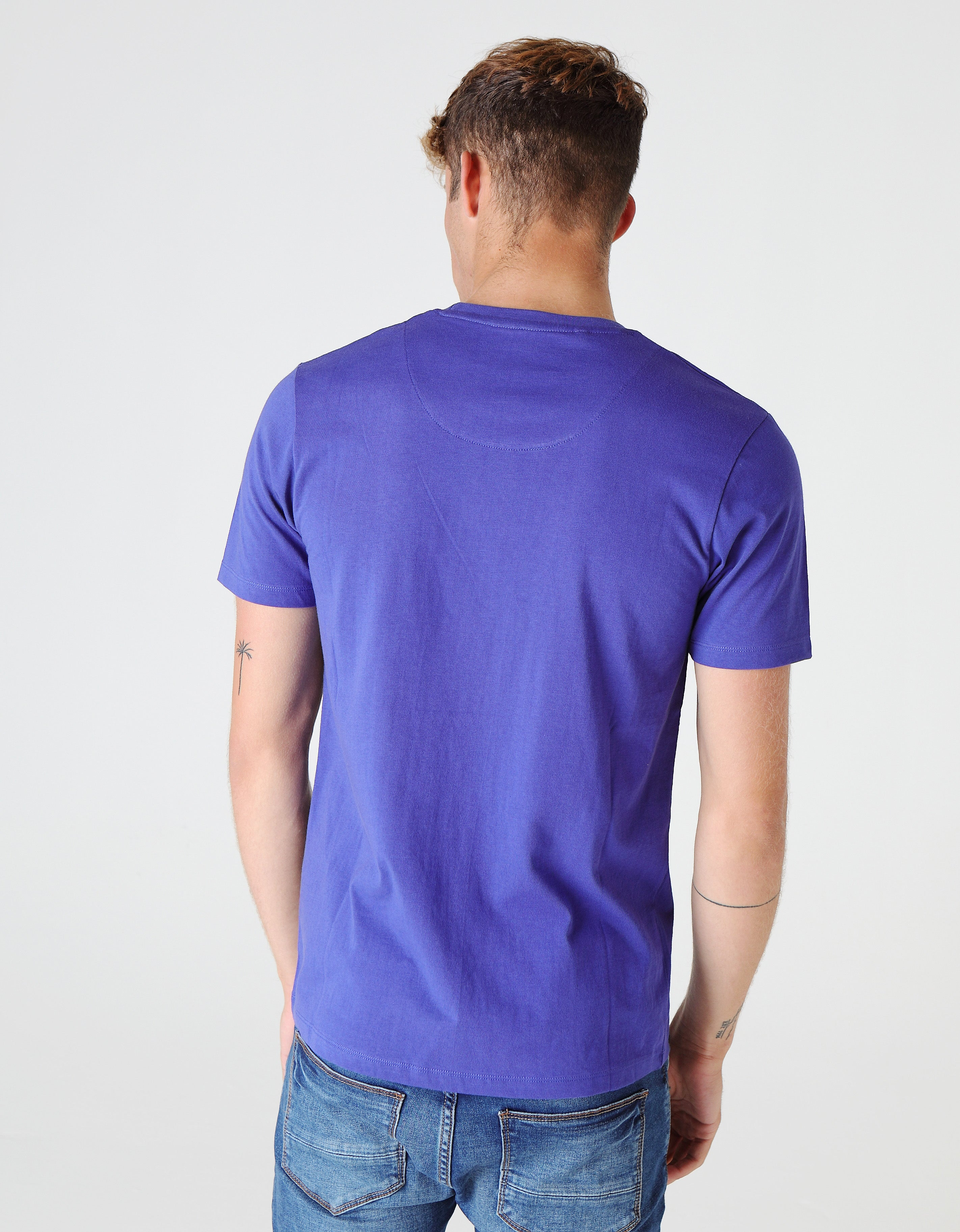BASIC SCOTT O NECK TEE ROYAL BLUE