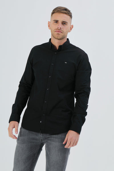 Ernest Oxford Shirt Black
