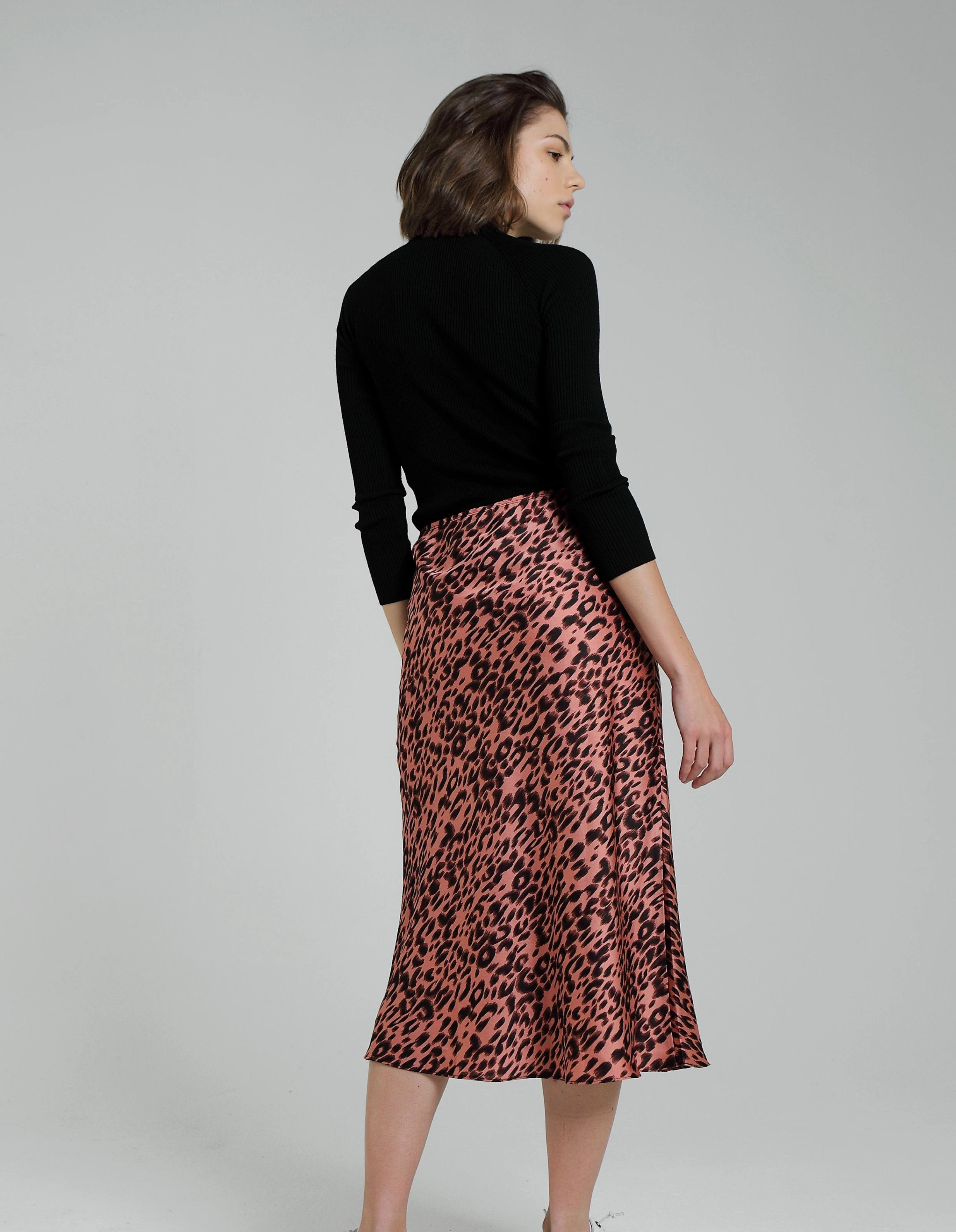 LAURA SKIRT BLUSH LEOPARD