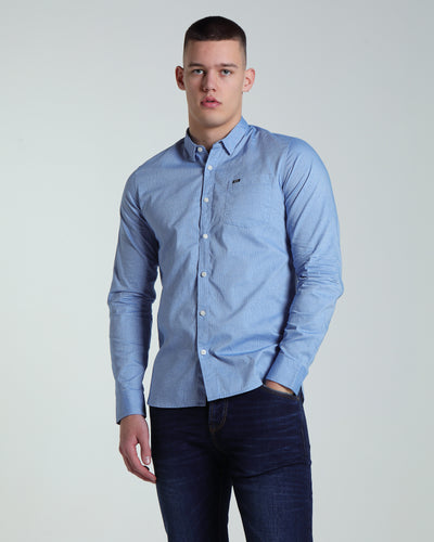 Axel L/S Shirt Blue
