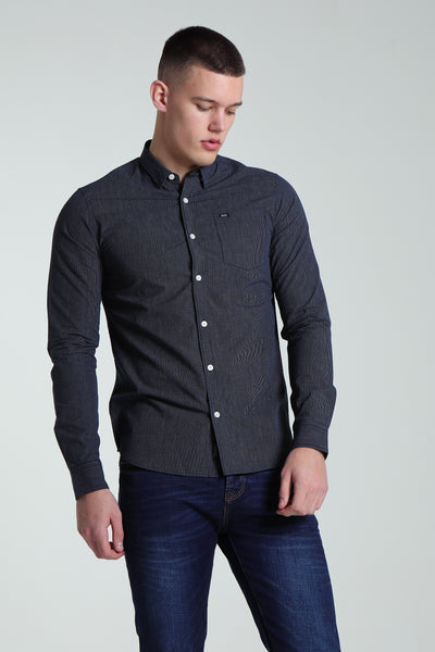 Rufus Stripe Shirt Navy