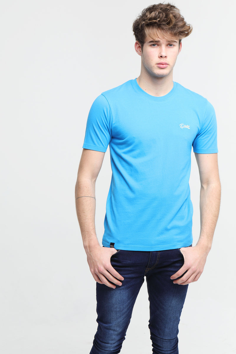 Basic Scott O Neck Tee Egyptian Blue