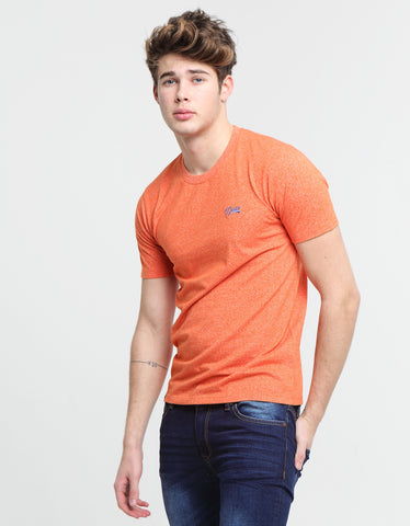 Basic Matt O Neck Tee Tropical Orange