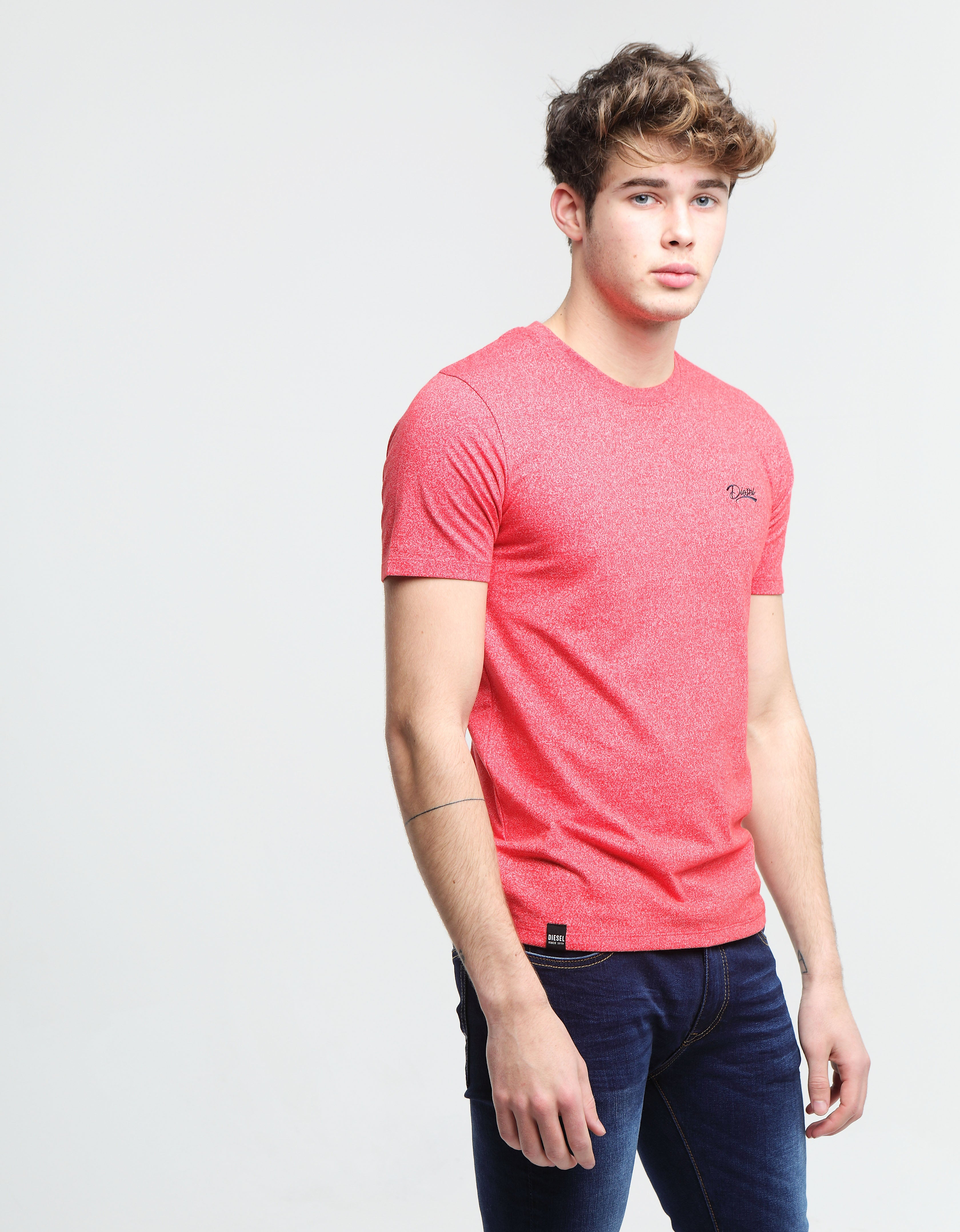 Basic Matt O Neck Tee Poinsettia Red