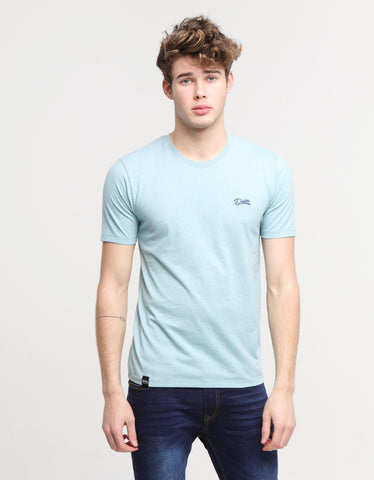 Basic Scott O Neck Tee Aegean Sea