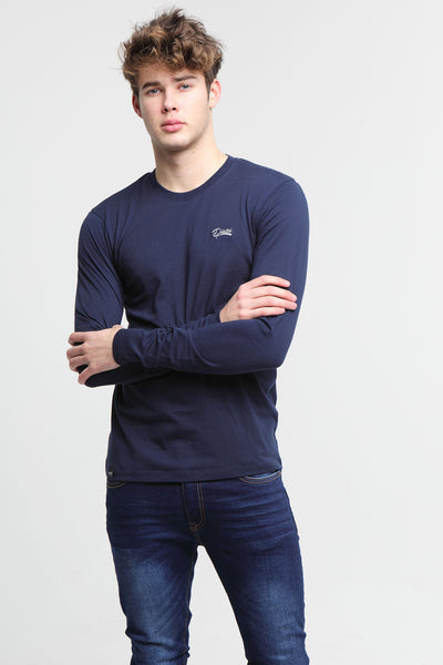 Basic Scott L/S Tee Navy Iris