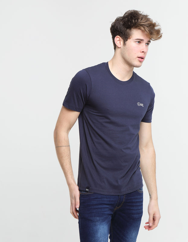 Basic Scott O Neck Tee PURE NAVY
