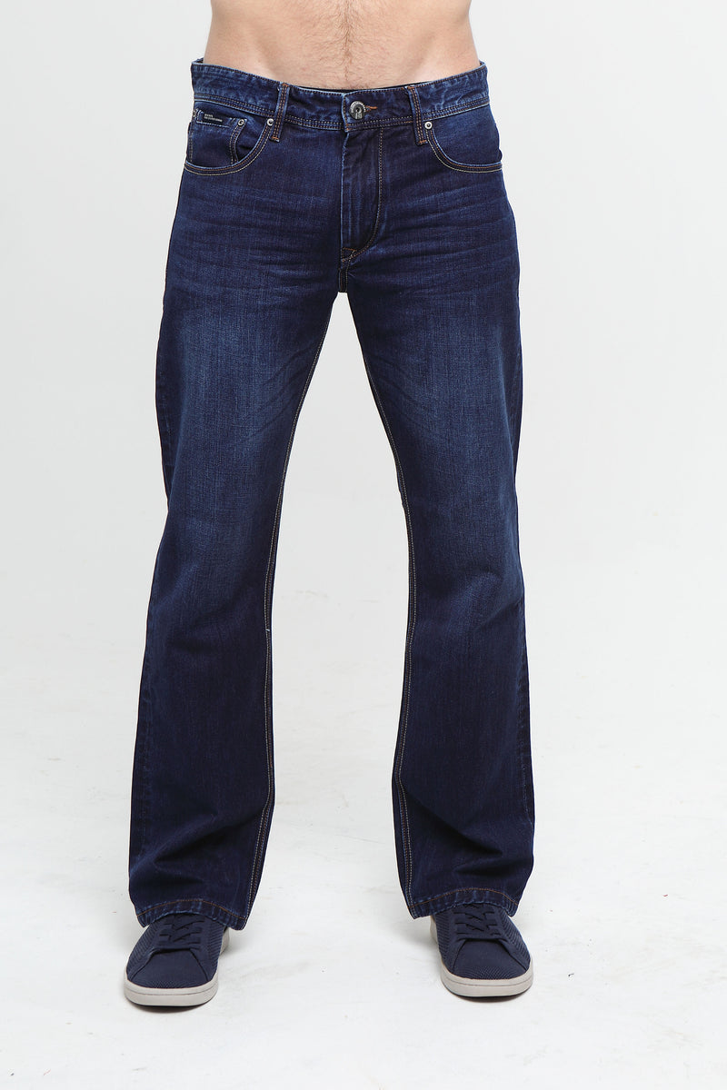 WALKER HUDSON WASHED relaxed bootcut INDIGO