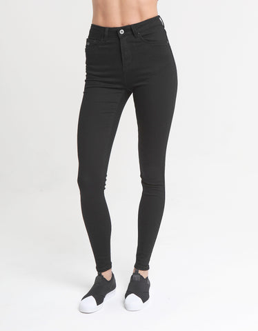 INGA HIGH WAIST SKINNY IN BLACK