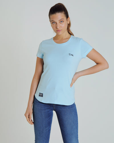 Cloda Basic Tee Cool Blue