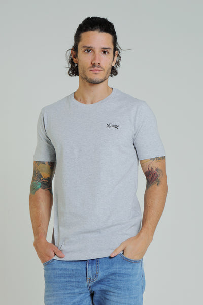 Basic Scott O Neck Tee Pebble