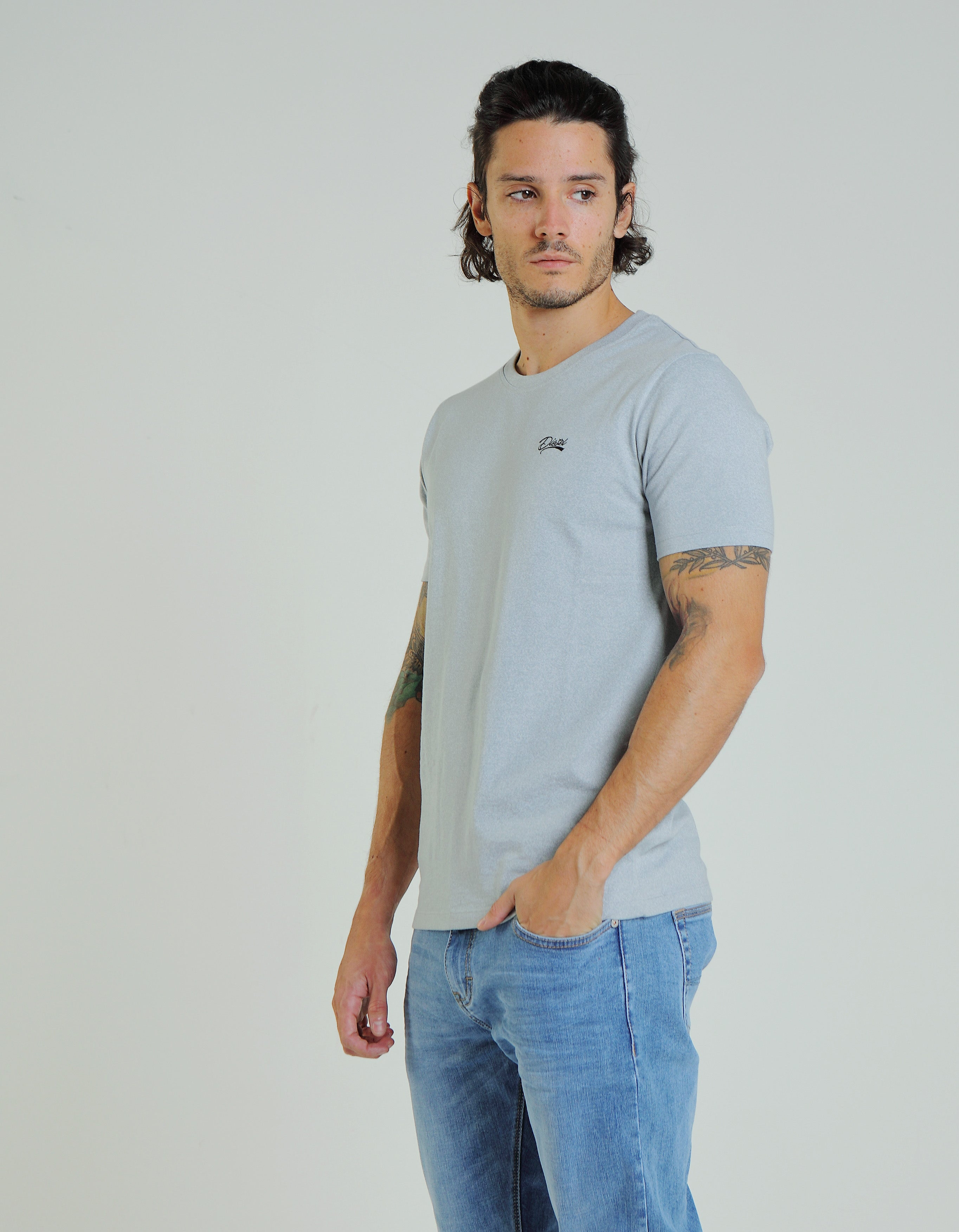 Basic Matt O Neck Tee Arctic Grey