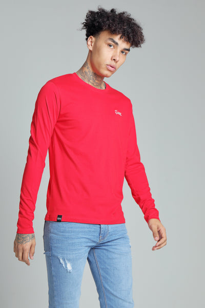 basic scott l/s tee barbados cherry
