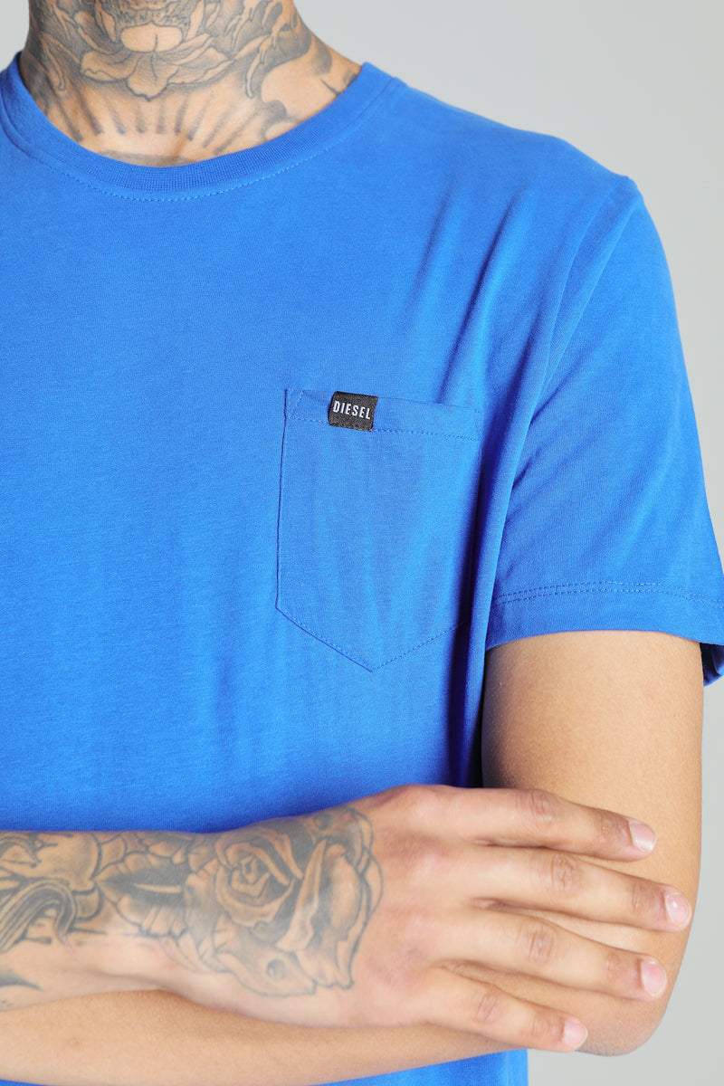 BASIC BRETT POCKET TEE RIVIERA BLUE