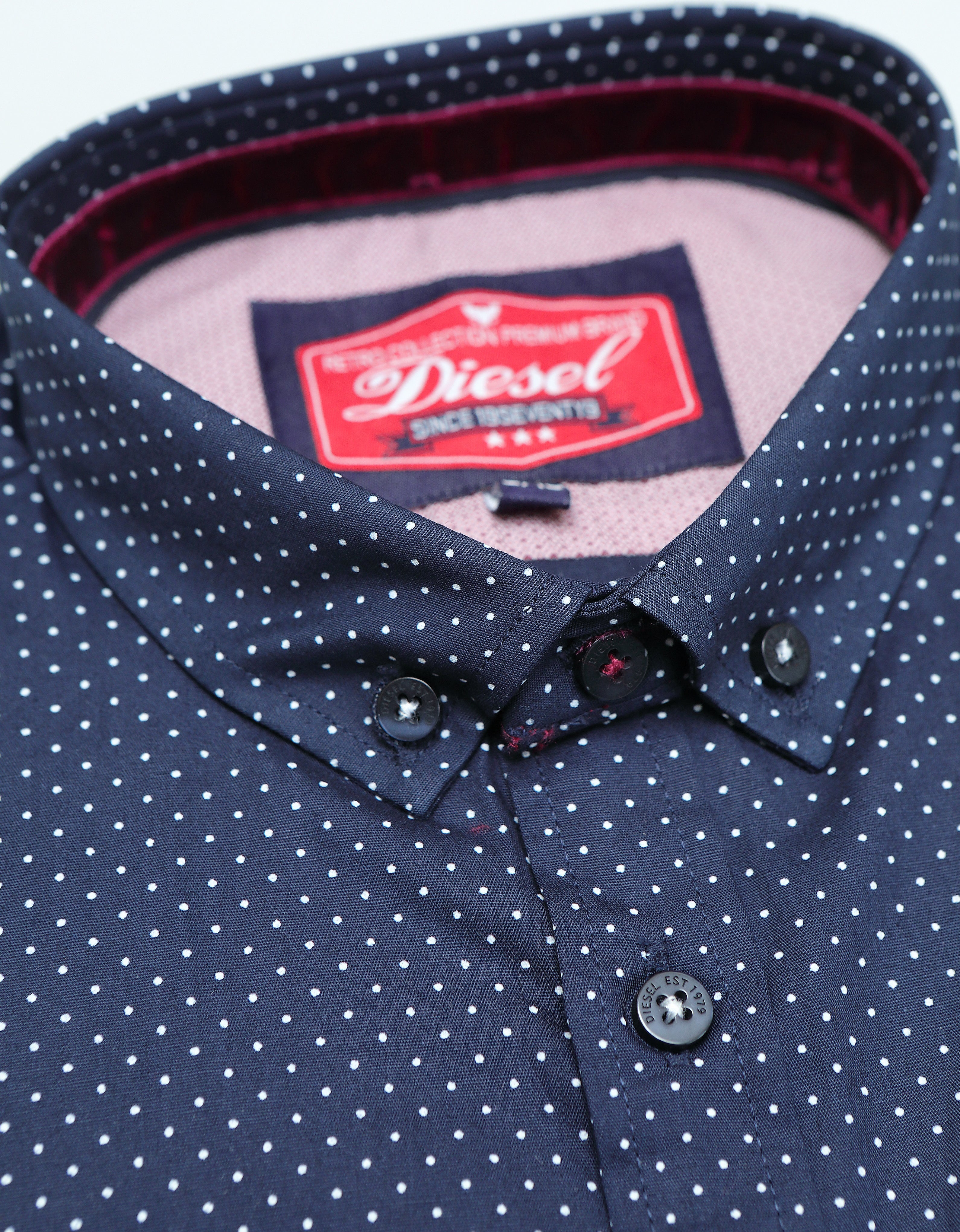 Morrie Boys Shirt Navy