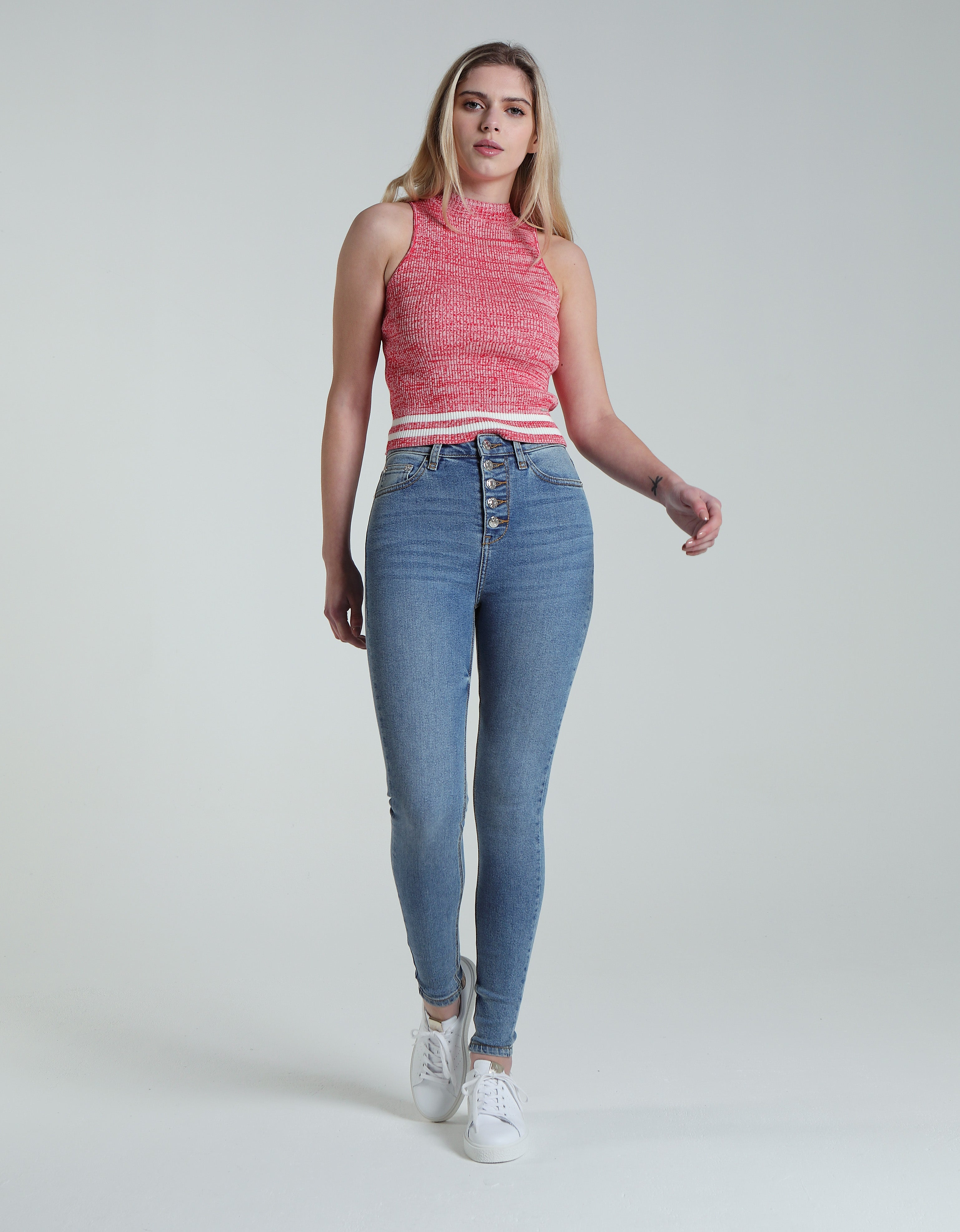 Isla High Rise Skinny Blue