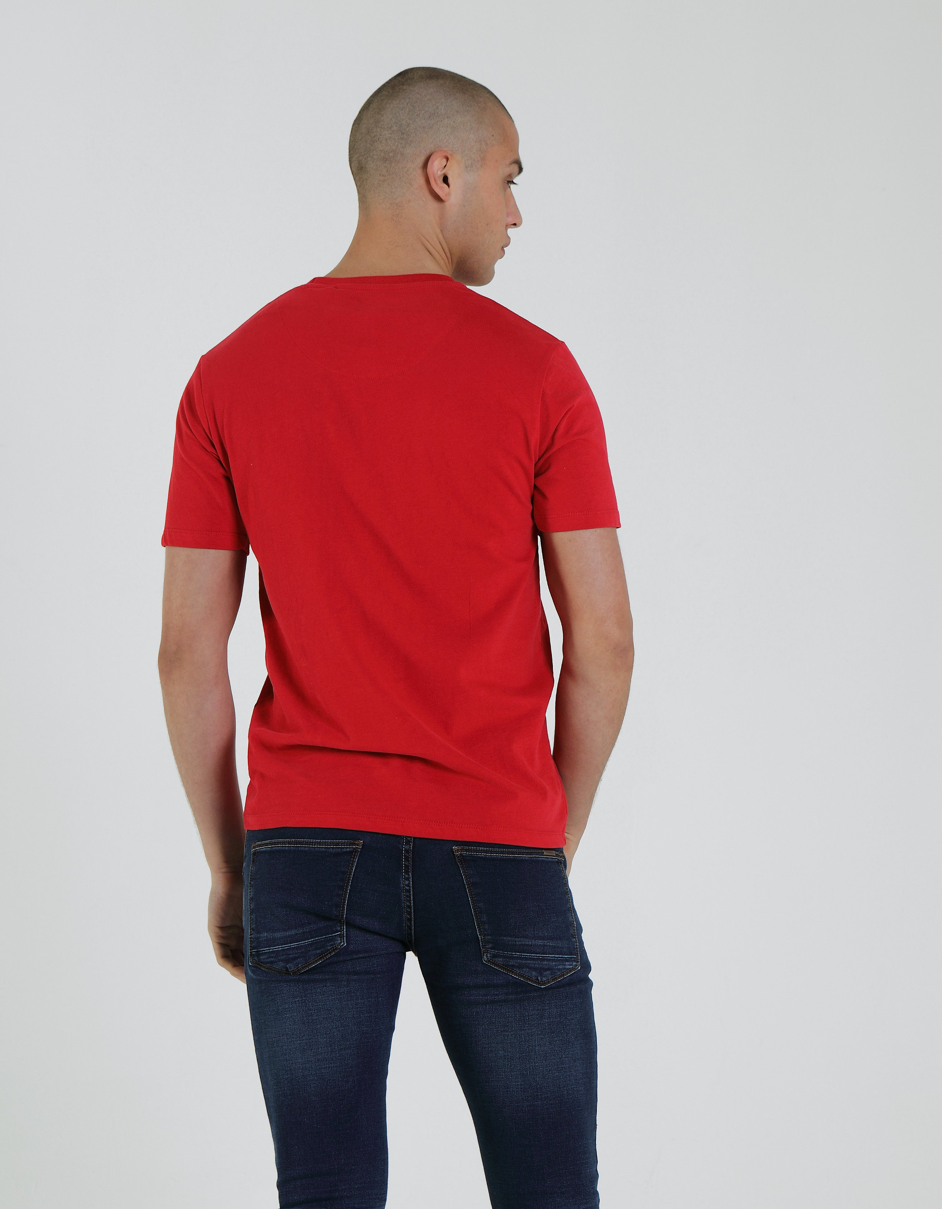 Basic Brett Pocket Tee Barbados Cherry