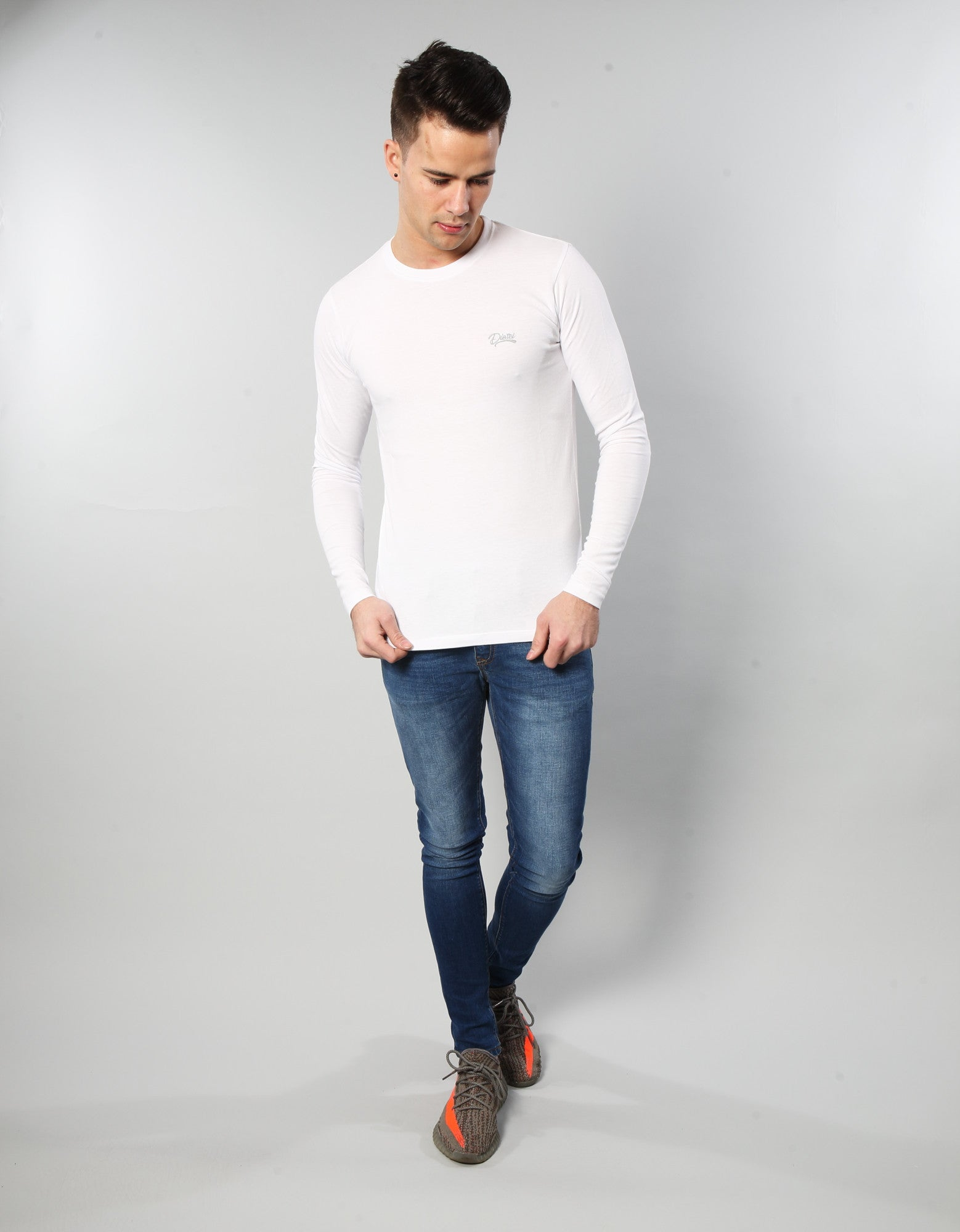 Basic Scott L/s Tee OPTIC WHITE
