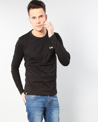 Basic Scott L/S Tee Black