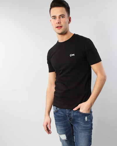 Basic Scott O Neck Tee Black