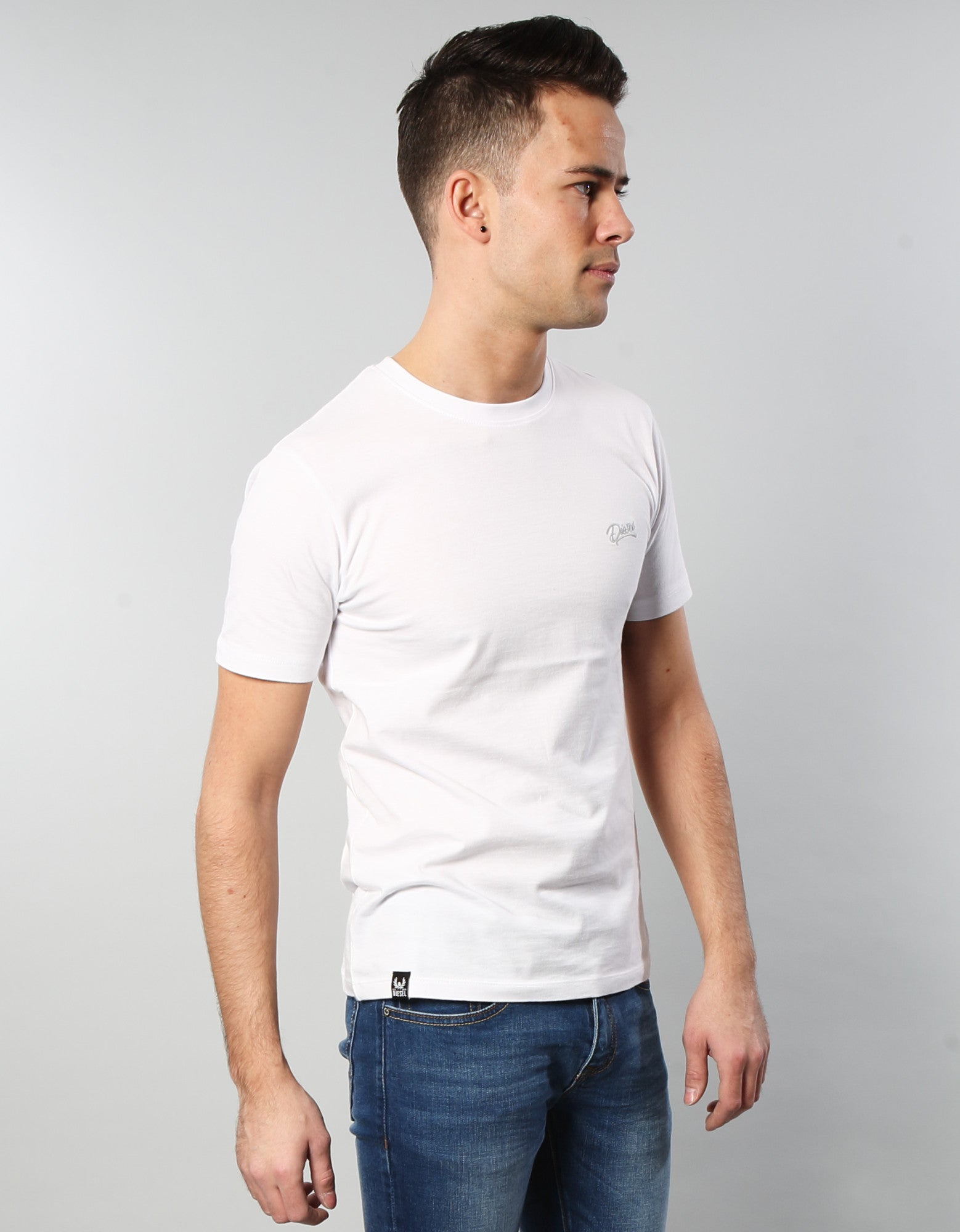 Basic Scott O Neck Tee Optic White