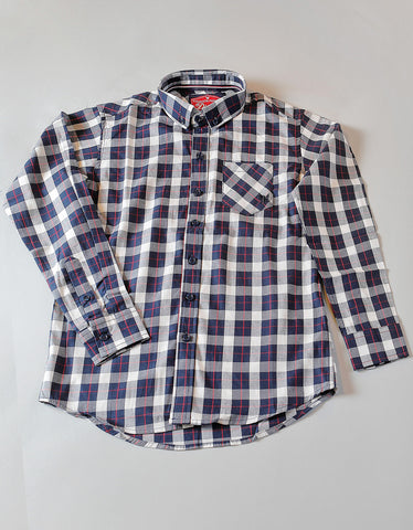 PORTER CHECK SHIRT NAVY CHECK
