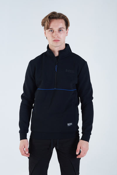Penley Half Zip Black