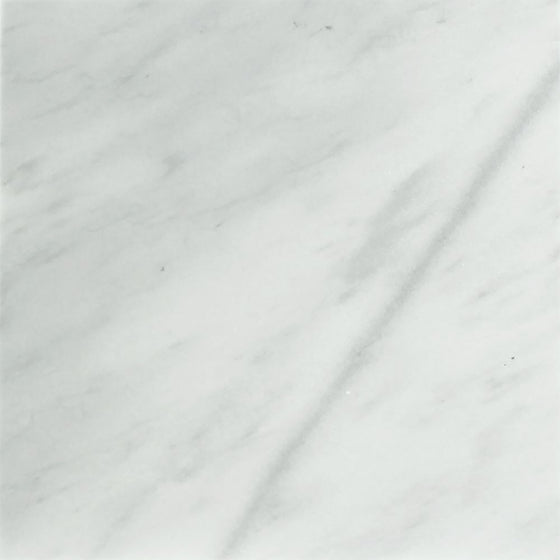 12 x 12 Honed Bianco Mare Marble Tile