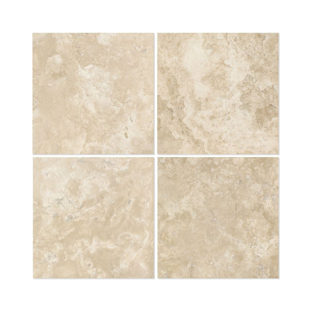 12 x 12 Honed Durango Travertine Tile - Standard - Tilephile