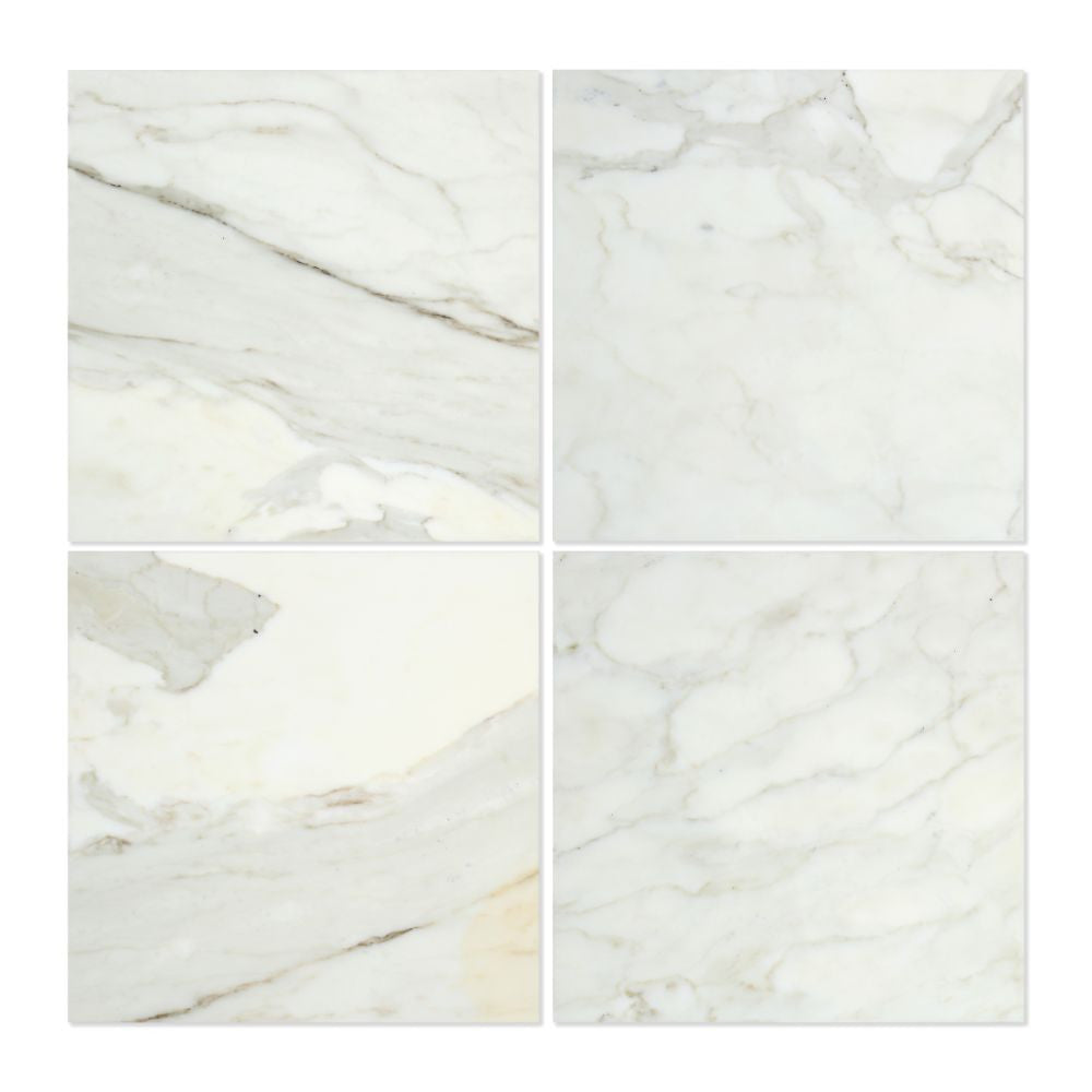12 x 12 Polished Calacatta Gold Marble Tile - Tilephile