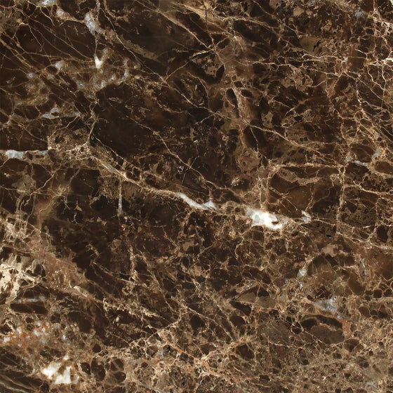 12 x 12 Polished Emperador Dark Marble Tile - Tilephile