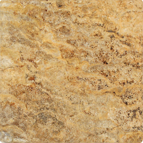 12 x 12 Tumbled Scabos Travertine Tile - Tilephile