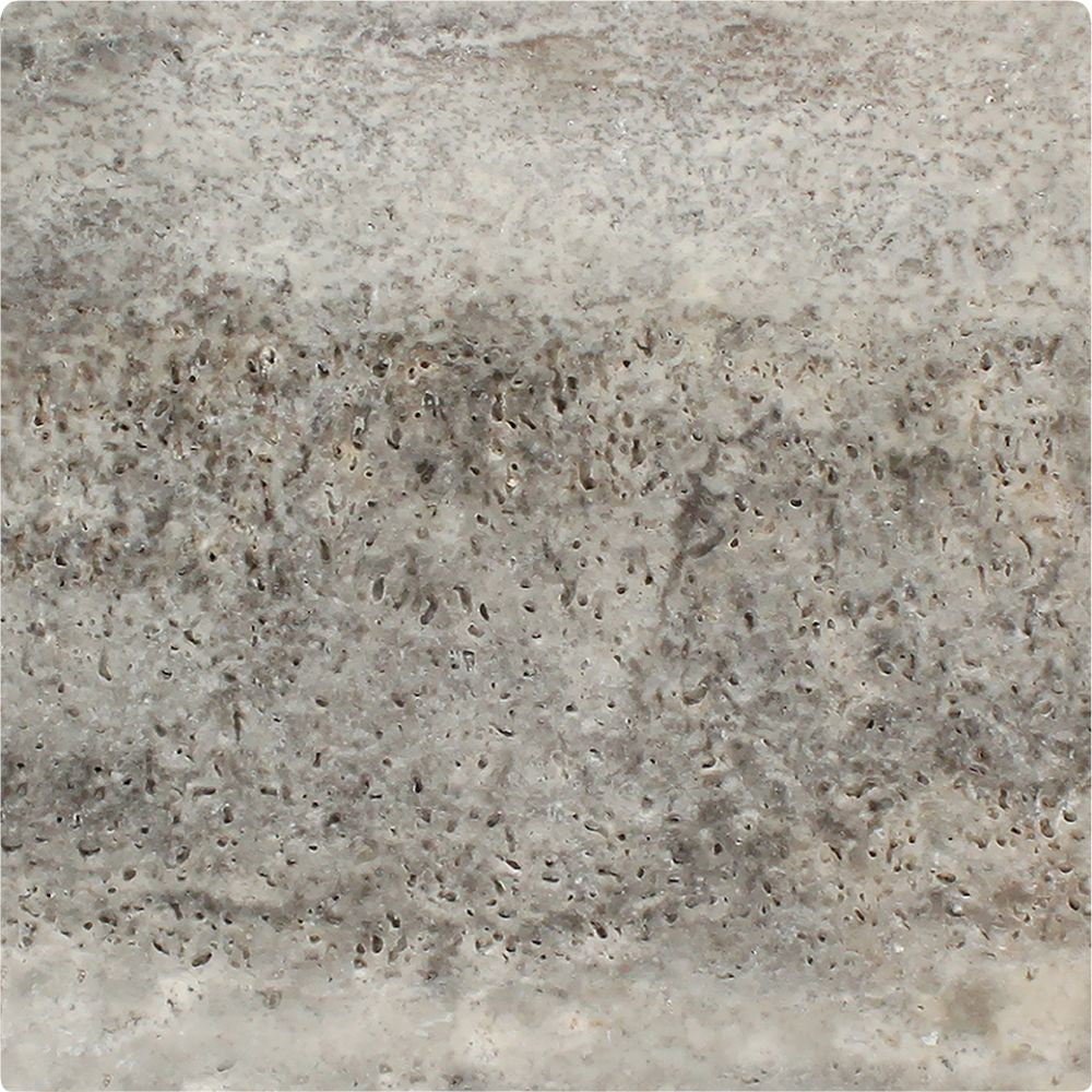 12 x 12 Tumbled Silver Travertine Tile - Tilephile