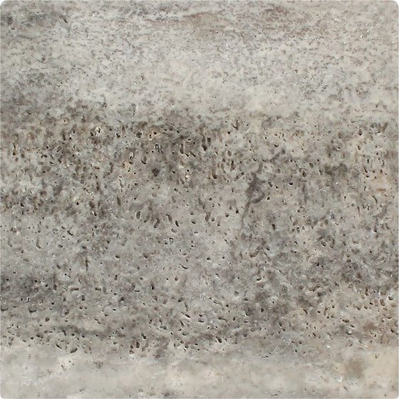 12 x 12 Tumbled Silver Travertine Tile