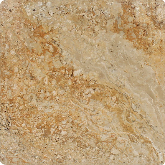 12 x 12 Tumbled Valencia Travertine Tile - Tilephile